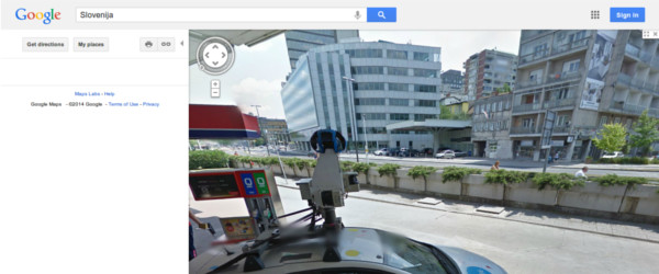 Slovenija na Google Street View